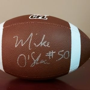CFL Toronto Argonauts hand signed by Mike O'Shea